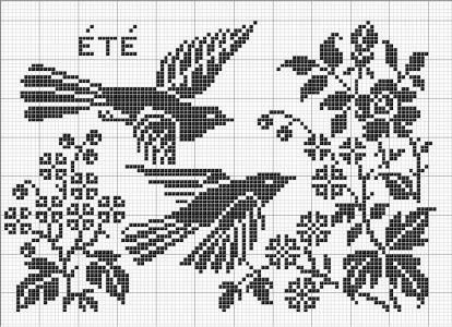 Season 02 | Free chart for cross-stitch, filet crochet | Chart for pattern - Gráfico