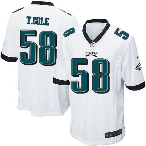 Nike NFL Philadelphia Eagles #58 Trent Cole Limited Youth White Road Jersey Sale