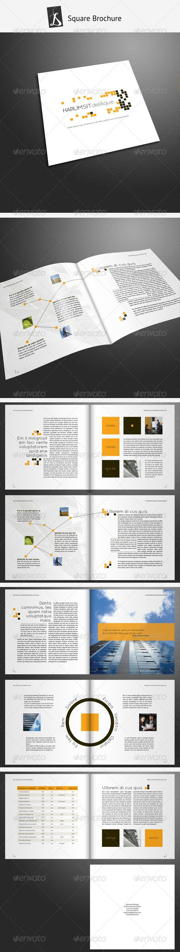 Corporate Brochure 15  #GraphicRiver              	 GraphicsFilesIncluded: InDesignINDD Layered: Yes MinimumAdobeCSVersion: CS4 PrintDimensions: 210x210 Tags: brochure #brohure #catalog #catalogue #clean #corporate #creative #elegant #fresh #landscape #leaflet #modern #neat #professional #typographic #typography