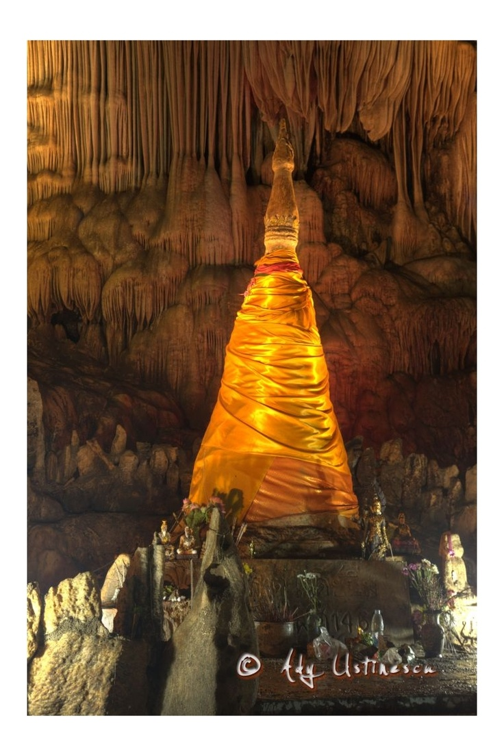 more than 1000 years Chedi. Tub Tao Cave, North of Thailand