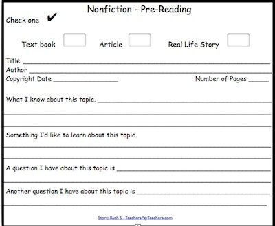 NonFiction Detective Cards can be used with any NonFiction text. Kids complete the pre-reading, as I read, and post reading cards. What better way to help your kids become very familiar with nonfiction? :) priced item