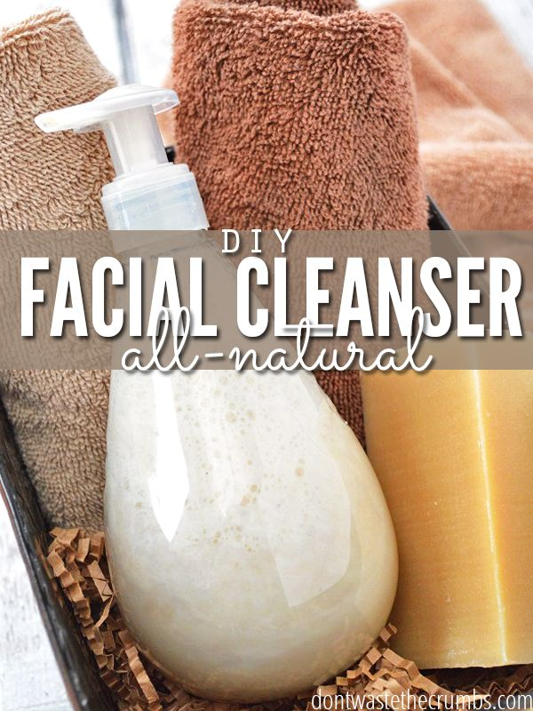A simple tutorial to make your own homemade facial cleanser using just two ingredients.  A simple all-natural