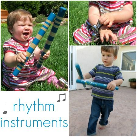 DIY Musical instruments including wrist bells and rhythm sticks. Great for teachers or parents looking for inexpensive options for their students or children. Coast Music Therapy tip: use the instruments in follow the leader games, play/freeze games, and to teach concepts of high/low/loud/quiet/fast/slow. Great for kids with autism and other special needs to improve motor coordination.: Kids Crafts Fun, Rhythm Instruments, Music Instruments, For Kids, Crafts Camps, Music Activities, Homemade Rhythm, Kids Fun, Diy Music