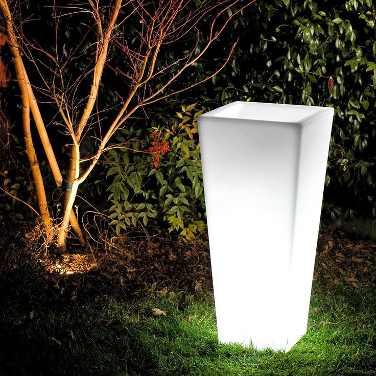"""""""Naif Lamp"""" is an illuminated vase with simple lines and imposing volume."""