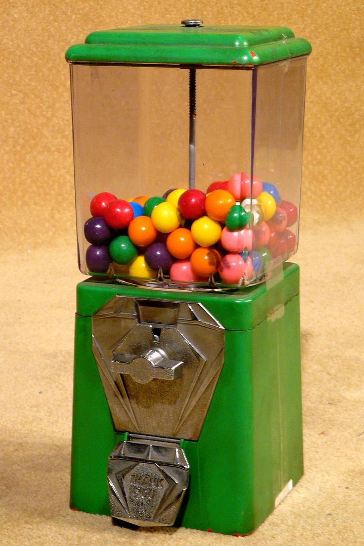 Bubblegum machine, the corner store had one and we always had our penny to grab one on the ay to school.