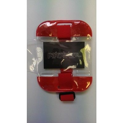 #Id/sia #license badge #holder - arm band red,  View more on the LINK: 	http://www.zeppy.io/product/gb/2/252068637506/