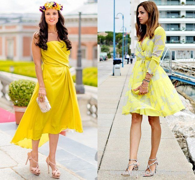 Yellow Wedding Guest Dress Ideas