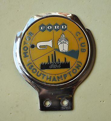 Vintage Ford South&ton Motor Club car Grill badge rare & 166 best Renamel Car Badges images on Pinterest | Badges Scooters ... markmcfarlin.com