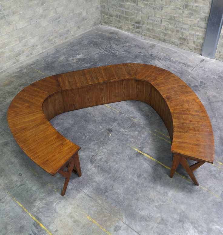 Pierre Jeanneret; 3-Piece Teak Committee Table for the Assembly and Administrative Building, Chandigarh, c1963.