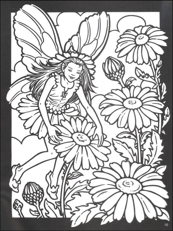 sad fairy coloring pages - photo#29