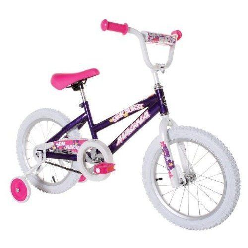 Bike Bicycle For Girls 16' Birthday Gift Outdoor Play BMX Frame Pink / White NEW #Kbrand