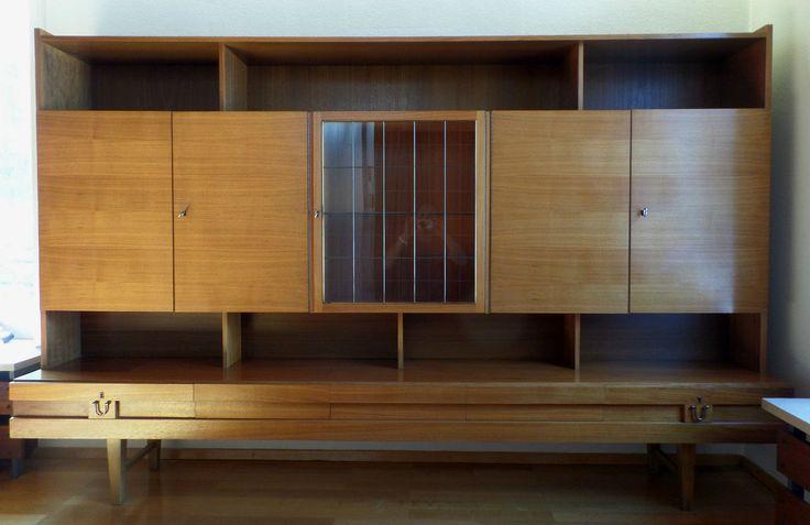 1 antikes danish modern design wohnzimmer schrank mid