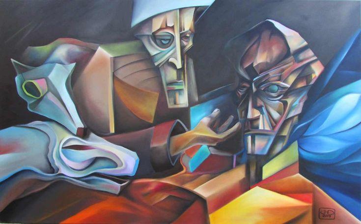 """oil painting - """"Našeptávač"""""""