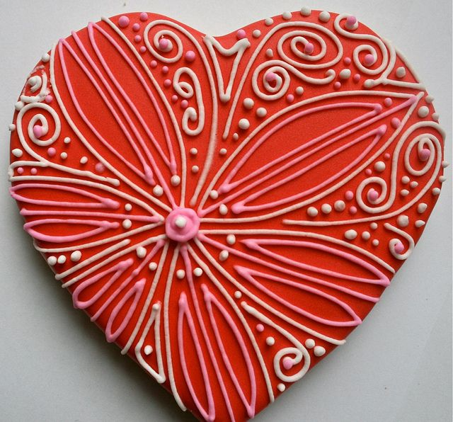 Valentine heart cookies by My Cookie Affair, via Flickr via #TheCookieCutterCompany