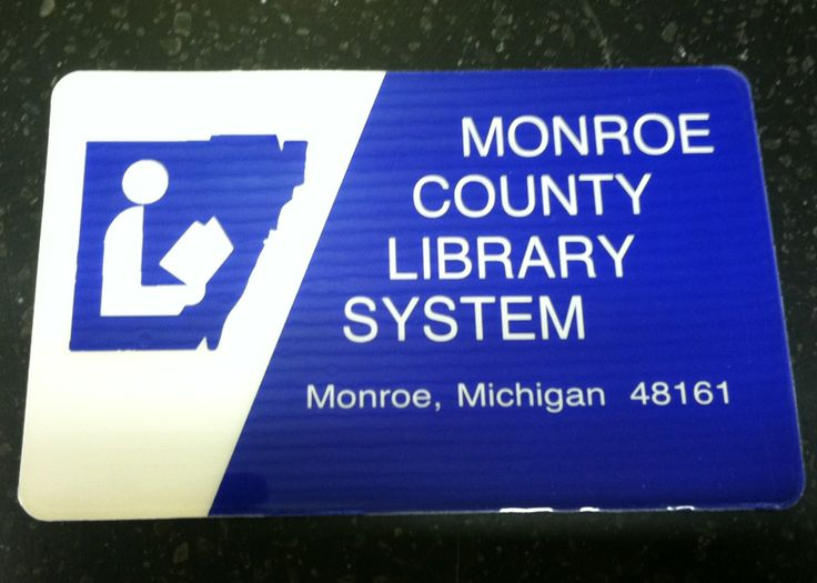 Library Card From The Monroe County Library System A Sixteen