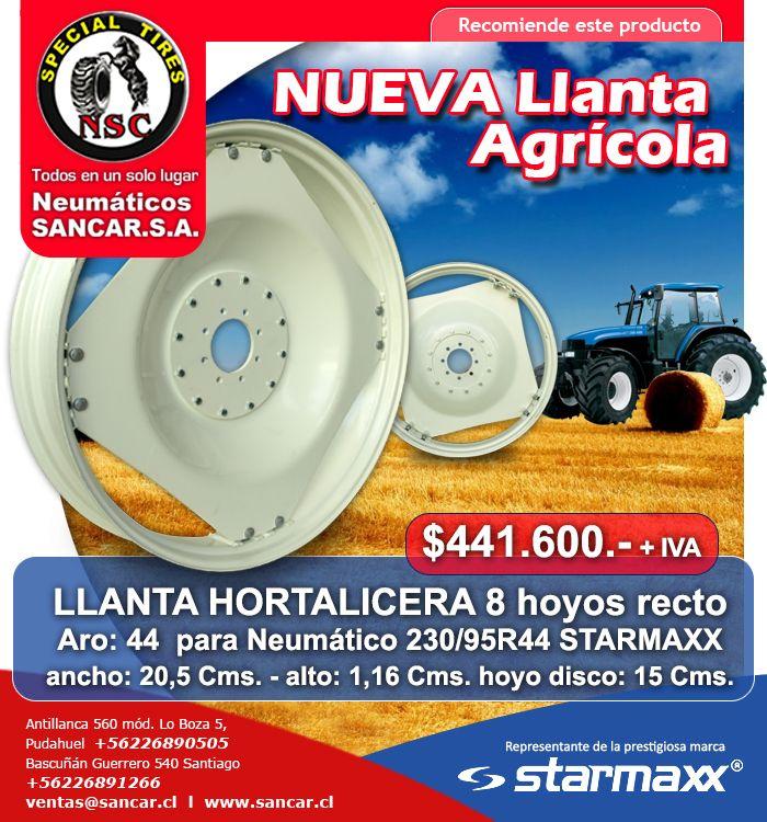 Aprovecha Precios Insuperables Llantas Starmaxx  www.sancar.cl – ventas@sancar.cl - Antillanca 560 módulo 5 Lo Boza Pudahuel - Teléfono +56226890505   Bascuñán Guerrero 540 Santiago - Teléfono +56226891266