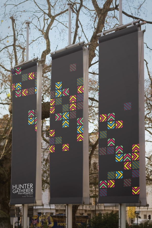 Hunter Gatherer Antique and Collectors Fair - Identity by Sean Phelps, via Behance
