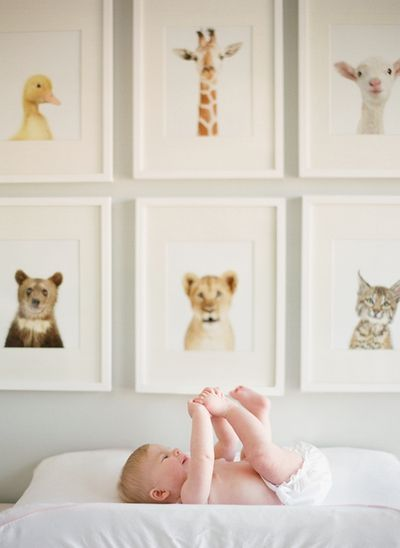 A great wall art idea for a nursery.