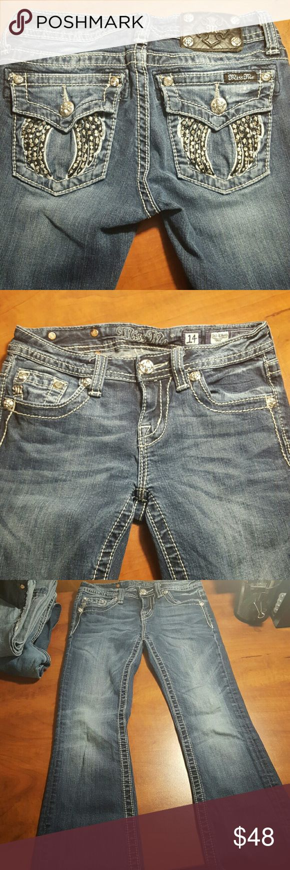 ??Excellent shape girls Miss Me jeans Like new girls size 14 Miss Me jeans. Miss Me Bottoms Jeans