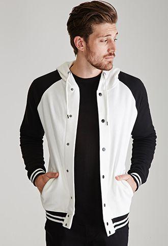 Hooded Varsity Jacket | 21 MEN | #f21men