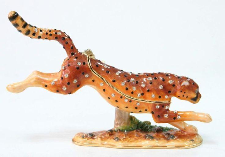 Cheetah running African Theme Treasurines TR235