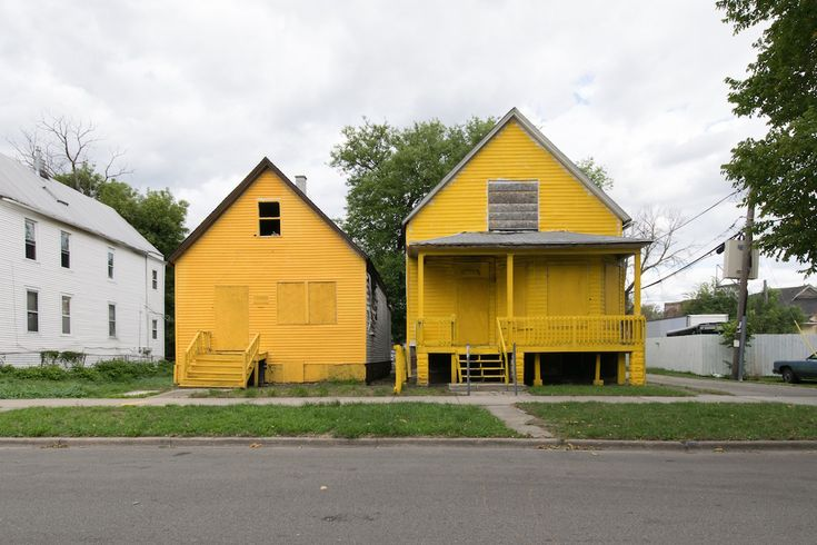 "From the series ""Colored"" artist and architecture professor Amanda Williams paints houses slated for demolition on the South Side of Chicago."