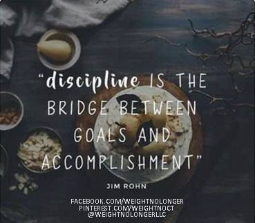 WNL Morning Motivation: #GoodMorningWNLFamily! If you want to #accomplish your #goals, you'll need to be #disciplined. #MorningMotivation #WeightNoLonger #WeightLoss #IdealProtein