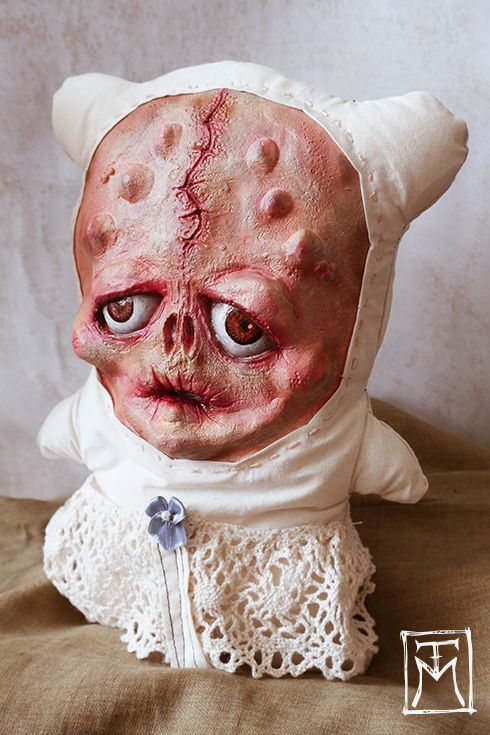 *SOLD 'Sinni Sophisticato' Mixed media and latex gothic, horror creepy art doll. Collectible weirdness for the darker home...  Talissa Mehringer © 2014