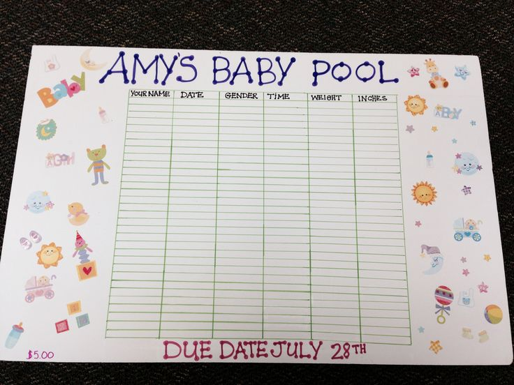Guessing Baby Pool Template