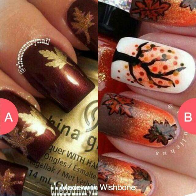 Autumn nail art ❤