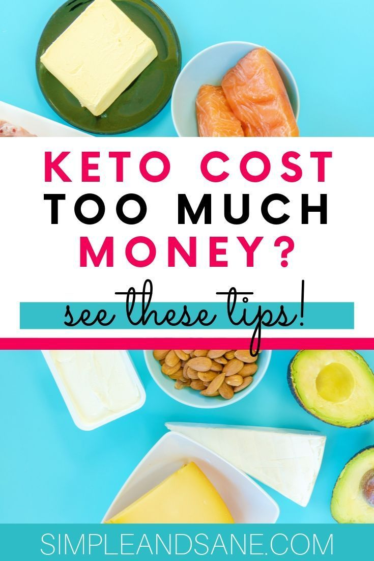 cost of the keto diet expensive