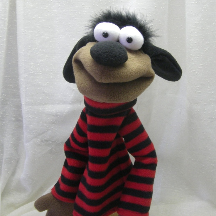 Max - A Dog Who Wears a Sweater - Hand Puppet (moving mouth). $38.00, via Etsy.  //I can see us having a ton of fun with this. DIY??