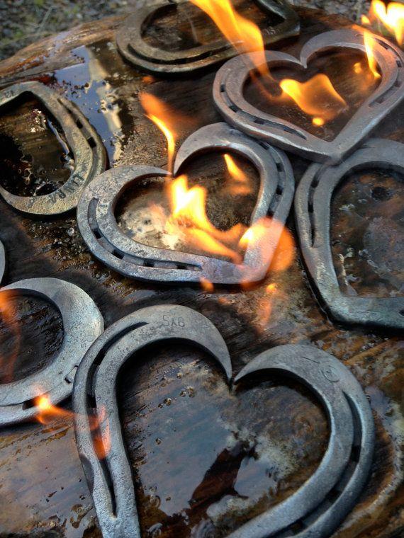 Horseshoe heart by hammeredforge on Etsy