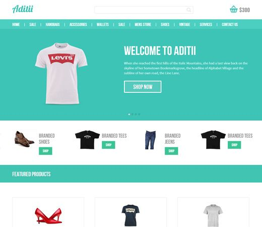 Aditi – a Flat ECommerce Responsive Web Template is a web design template which can be used for Online Shopping, eCommerce websites as well as mobile compatible devices.