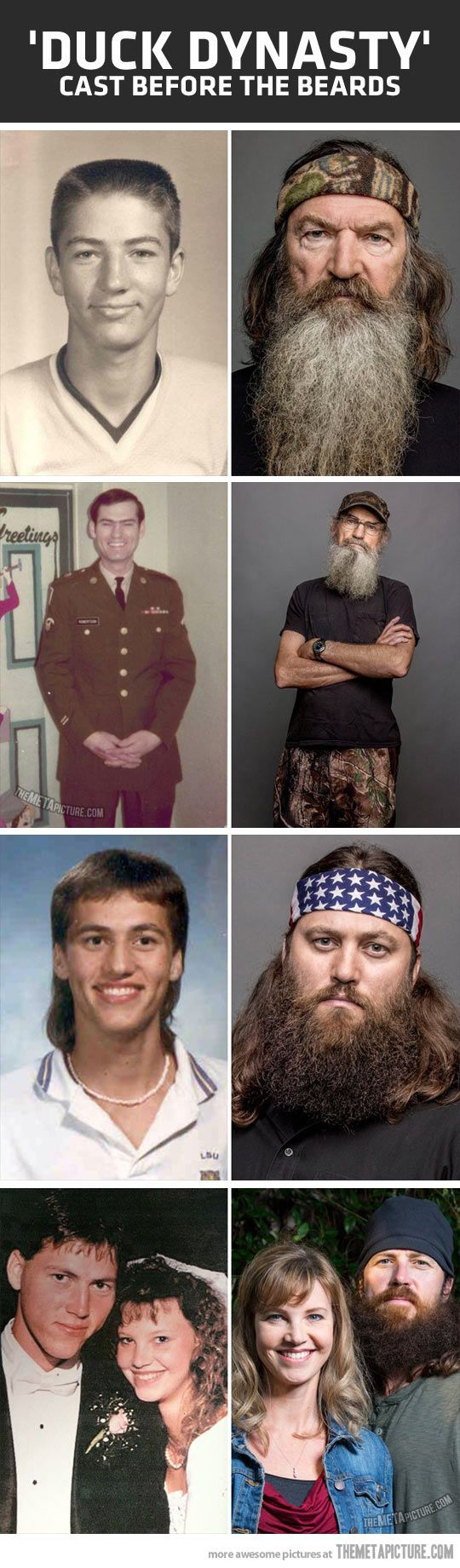 Duck Dynasty cast, before the beards.