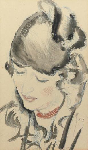 Jan Sluijters (1881-1957, Netherlands) - Portrait of a woman