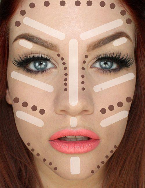 DIY Makeup Tutorials! Contouring 101 | http://makeuptutorials.com/5-tutorials-teach-make-face-look-thinner/