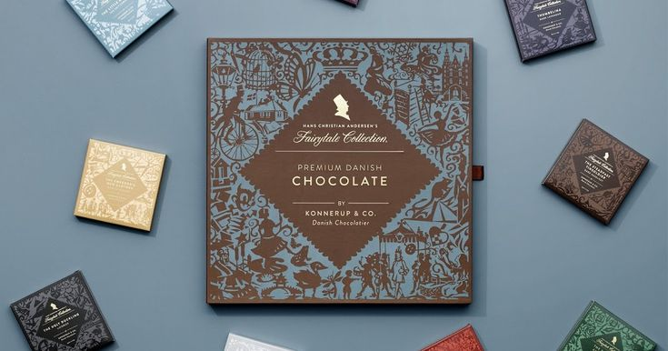 """What do Bessermachen Design Studio and Hans Christian Andersen have in common? The short answer is that we both share a passion for a great story. A great story told in words, pictures and graphics. A great story interpreted in 9 wonderful, fairy-tale bars of chocolate."""