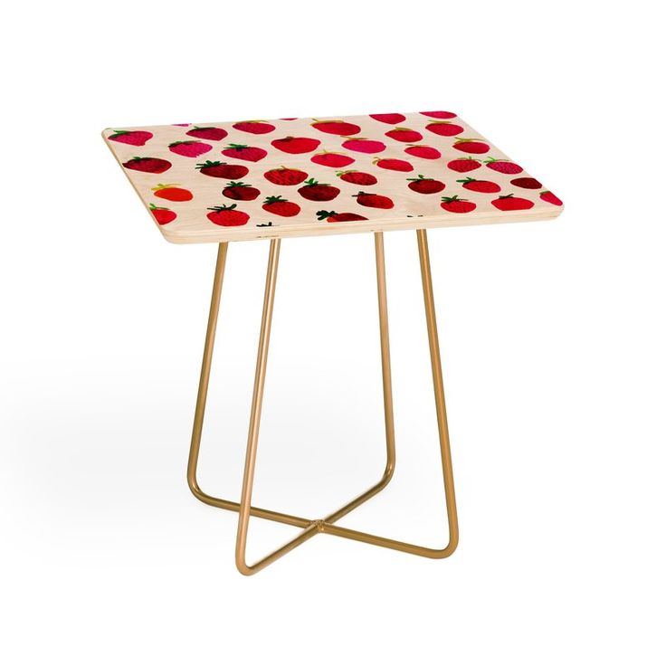 Amy Sia Strawberry Fruit End Table Affiliate End Tables Antique End Tables East Urban Home