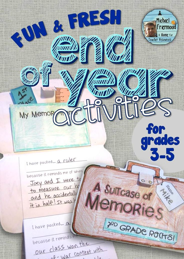 6 fun and fresh End-of-Year activities! Grades 3-5 ($)