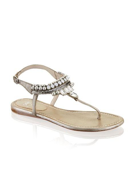 Pat Calvin Glattleder-Sandale - gold | Schuhe | Sandalen | Online Shop | 1422810201 EUR 69.95