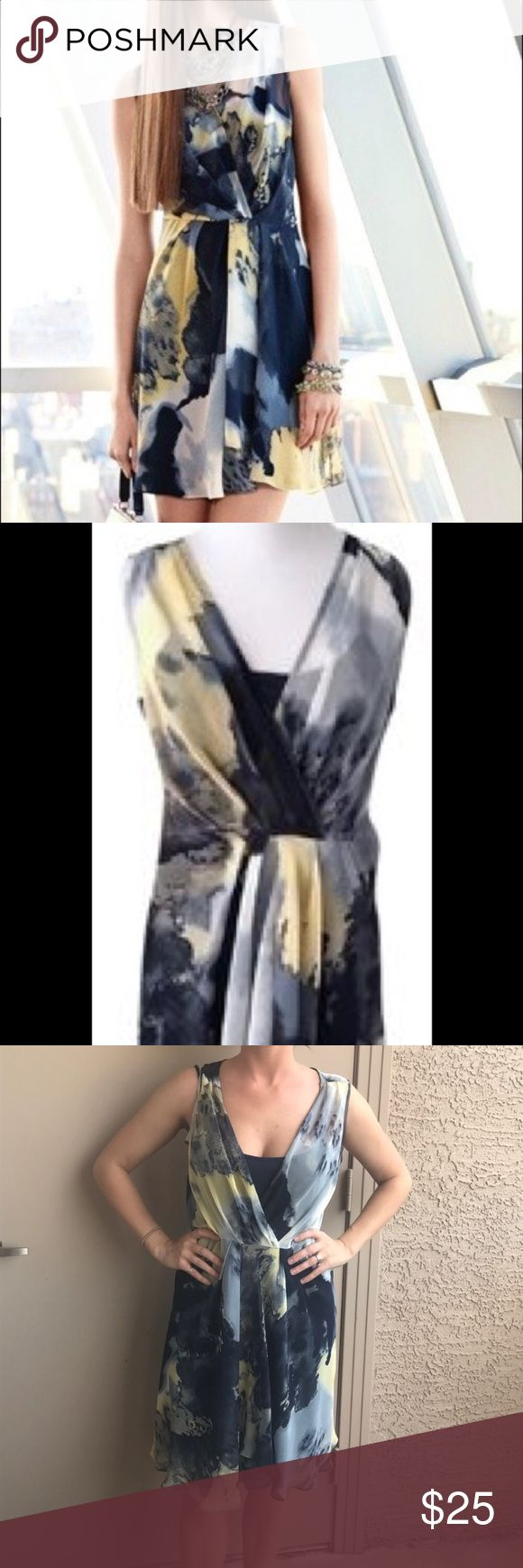 Simply Vera Vera wang dress This dress is in great condition. The only flaw is one under strap is connected and one is not. It is not noticeable when wearing. It is 100 percent polyester. Simply Vera Vera Wang Dresses