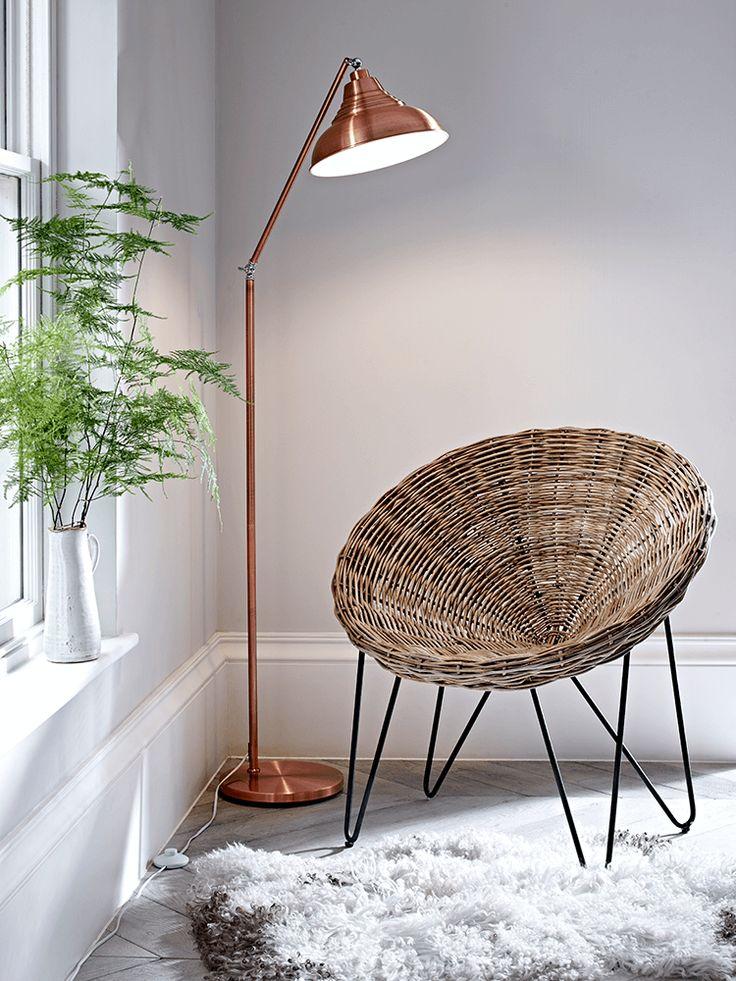 Rattan cone chair reception area pinterest rattan for Doughnut c floor lamp