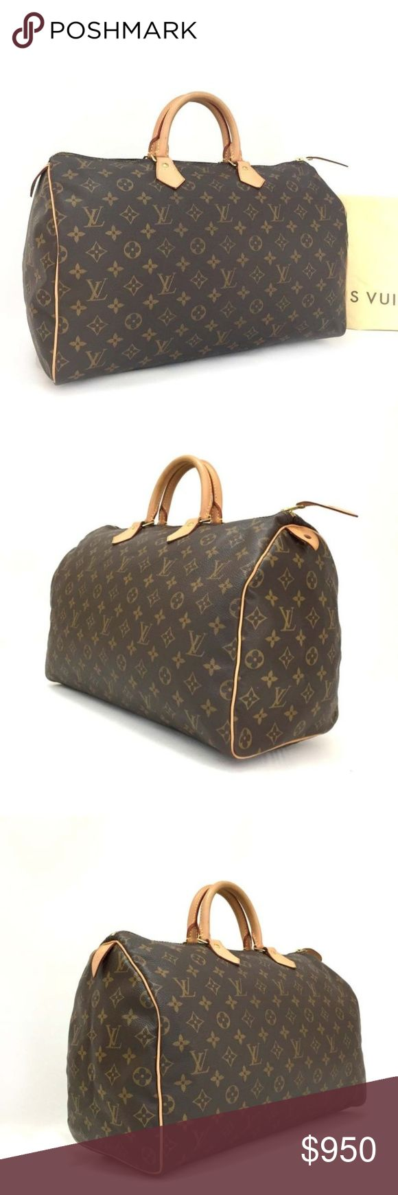 Louis Vuitton speedy 40 Authentic Louis Vuitton speedy 40 In very good condition. Clean inside and out. Check thorough picture. Comes with dustbag, cards and keylock. Date code: AA2089 Accept SQ or Circle for less 750 No trade allowed. Louis Vuitton Bags Satchels