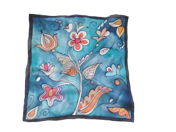 Indián virágok selyemkendő Matyó szívküldi selyemkendő Klimt Flöge inspiráció őszi színekben Őszi sálak, kendők selyemből Végérvényesen itt ...