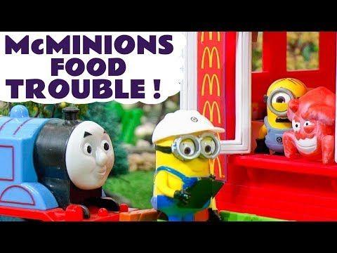 Despicable Me 3 Minions McDonalds Drive Thru Food Trouble - Thomas The Tank Engine Toys TT4U - YouTube