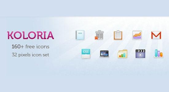 Koloria - 160+ free icons (32px size)