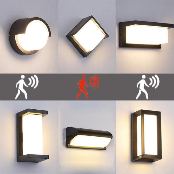 Helle 12W LED Hauswandleuchte silber Außenlampen Hauslampen Eingangsbeleuchtung