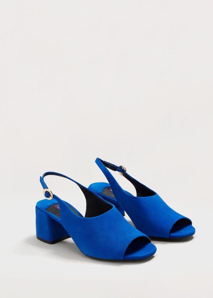 Destructured leather sandals - Woman   MANGO United Arab Emirates