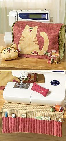 Очаровательный чехол для швейной машинки и не только (схема) — Рукоделие